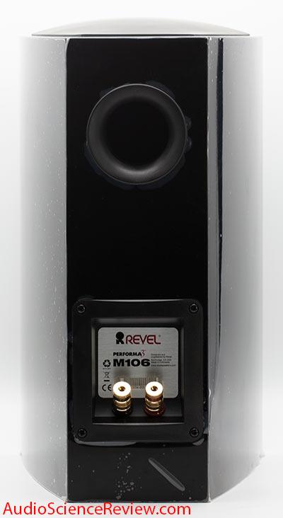 Revel M106 bookshelf speaker back panel binding posts Review.jpg