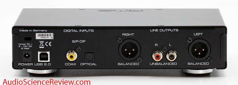 RME ADI-2 DAC FS Version 2 USB Headphone Amplifier Back Panel Connectors Inputs Outputs Review.jpg