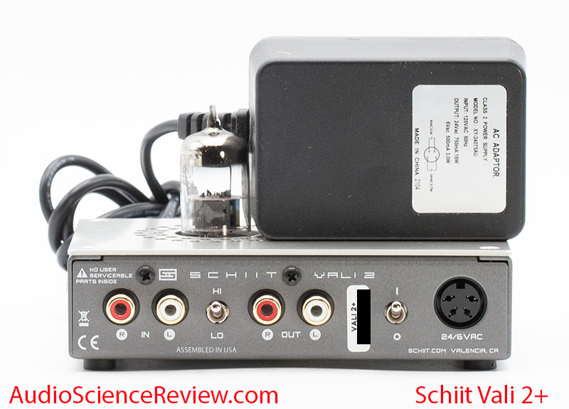 Schiit Vali 2+ Review Back panel power supply Tube Headphone Amplifier.jpg