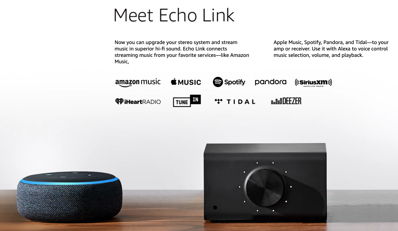 Amazon Echo Link Amp : Stream and amplify hi-fi music to