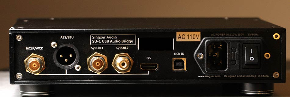 Singxer SU-1 USB to SPDIF Converter Back Panel Inputs and Outputs Audio Review.jpg