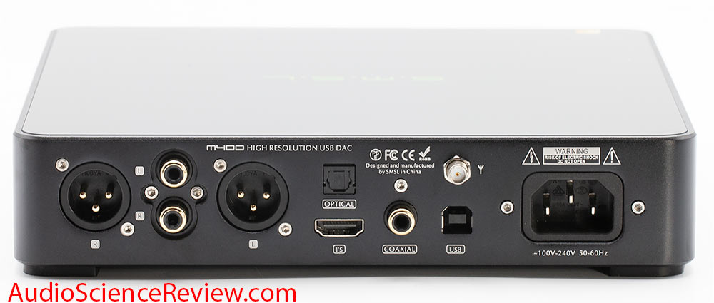 SMSL M400 USB DAC XLR Balanced Back Panel Inputs Outputs XLR RCA Audio Review.jpg