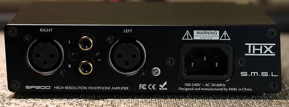 SMSL SP200 THX Headphone Amplifier Back Panel Audio Review.jpg