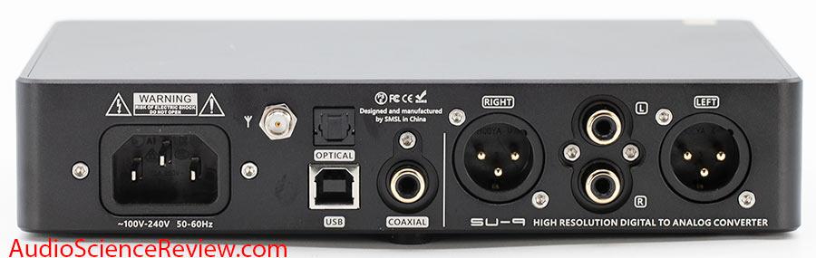 SMSL SU-9 Balanced USB DAC Back Panel XLR Toslink Coax inputs Audio Review.jpg