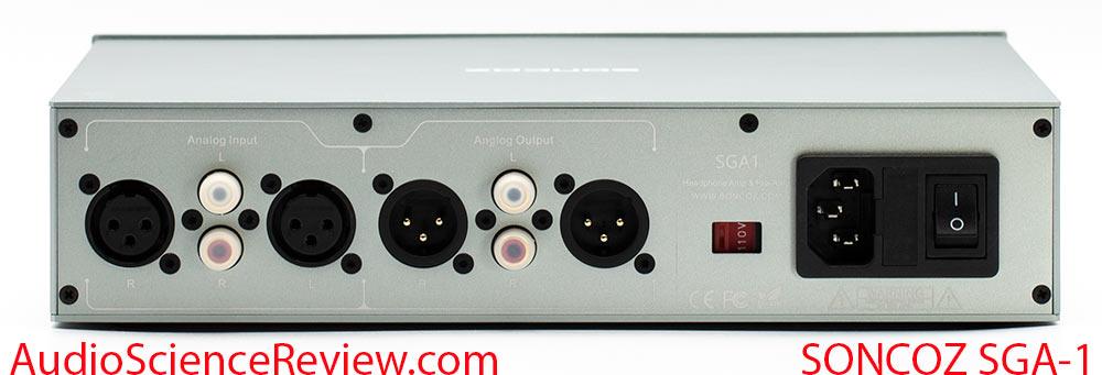 Soncoz SGA1 Review back panel Balanced Headphone Amplifier.jpg