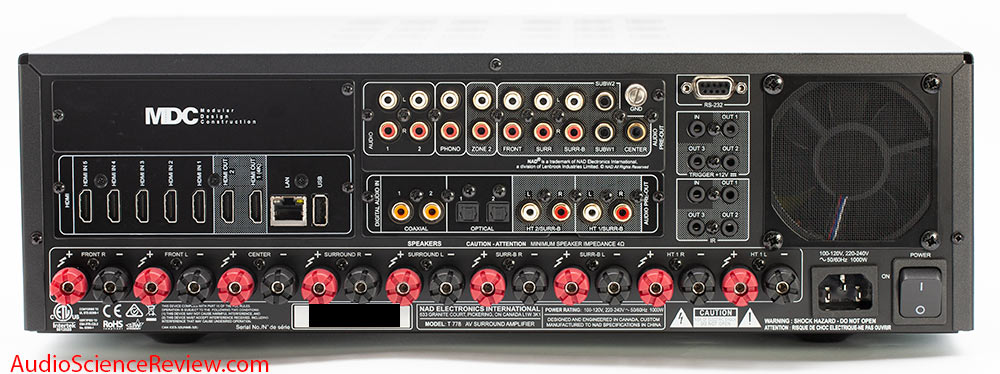 T 778 AV Surround Amplifier AVR Dolby Atmos 4K  Back Panel Inputs HDMI Pre-out Review.jpg