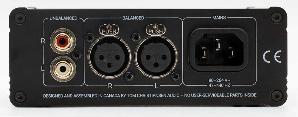 Tom Christansen Audio TCA HPA-1 Back Panel Connectors Audio Review.jpg