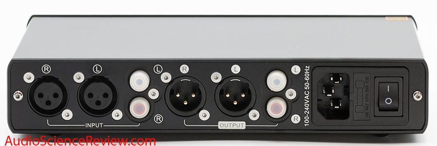 Topping A90 Headphone Amplifier Balanced Back Panel Inputs Outputs XLR Review.jpg