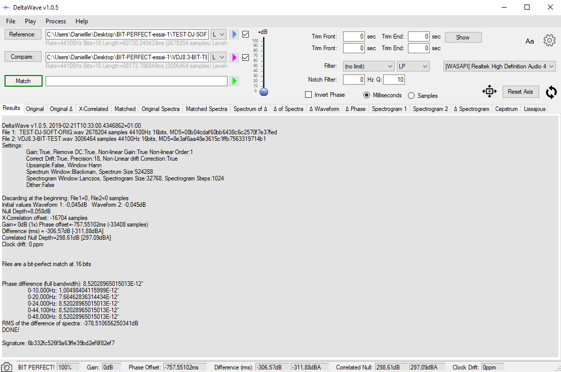 Beta-test: DeltaWave Null Comparison software | Page 2