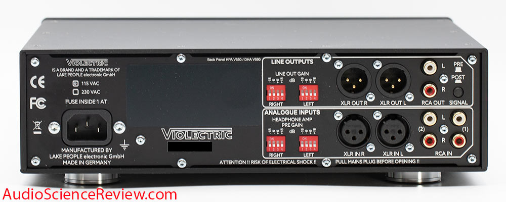 Violectric HPA V550 Pro Review back panel XLR Balanced Headphone amp and Preamp Amplifier.jpg