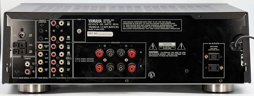 Yamaha RX-596 Stereo Receiver Back Panel Repair Audio Review.jpg