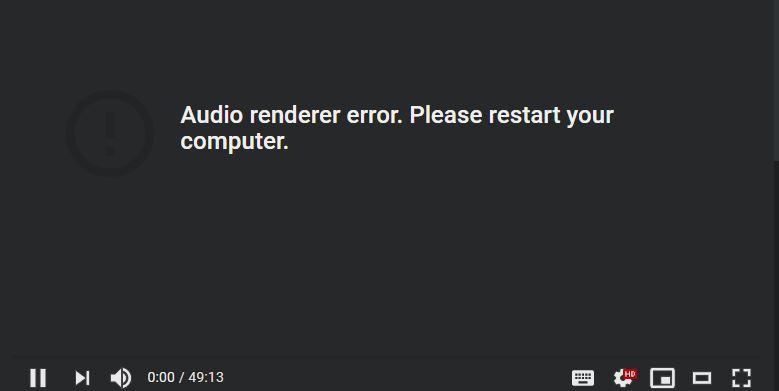 Youtube error when Tidal in Exclusive Mode.JPG